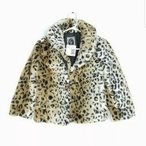 Guess Womens Size Small Jacket Animal Print Soft